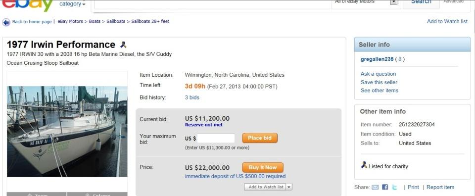 cuddy for sale on Ebay